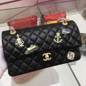 Chanel Double Flap Classic Handbag CH033G-Black