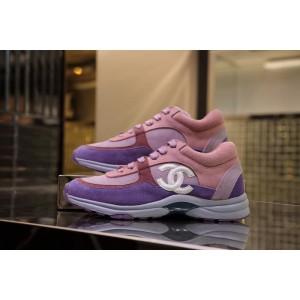 Chanel Women Low-Top Sneakers Purple CHS-126