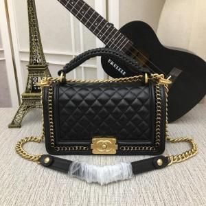Chanel Top Handle BOY CHANEL Handbag CH042-Black