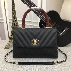 Chanel Top Handle Flap Bags CH047V-Black
