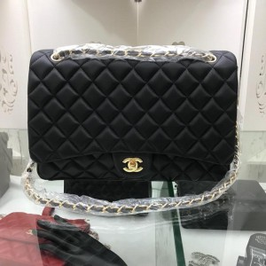 Chanel Large Double Flap Classic Handbag CH049-Black