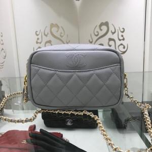 Chanel Mini Shoulder Bags CH060-Purple-Grey