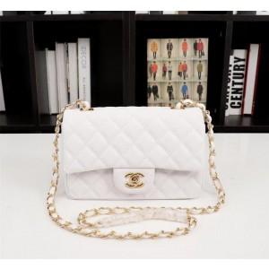 Chanel Small Cowhide Classic Handbag CH030C-White