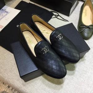 Chanel Women Loafers Black CHS-199
