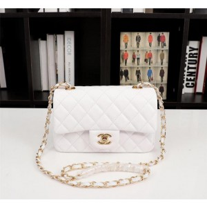 Chanel Small Sheepskin Classic Handbag CH030-White