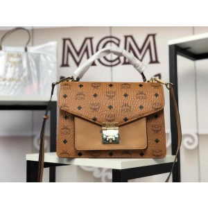 2018 New MCM Crossbody Bag 6236 Brown 21x19x7