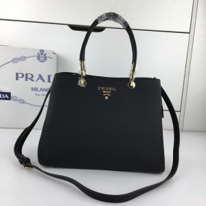 2018 New Prada Tote Bag 2790 Black 31*22*13cm