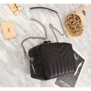 2018 New Saint Laurent Crossbody Bag 26822 Black 22*15*10