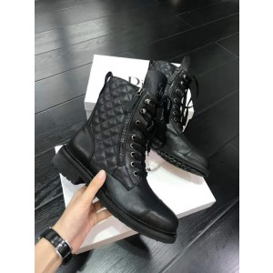 Chanel Women Martin Boots Black/Brown CHS-233