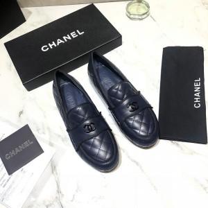 Chanel Women Loafers Blue CHS-272