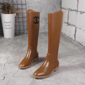 Chanel Women Boots Brown CHS-280