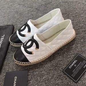 Chanel Women Espadrille Flats White Black CHS-034