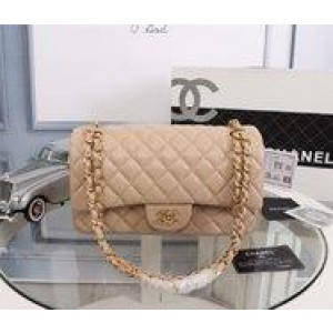 Chanel Double Flap Classic Handbag CH207-Apricot