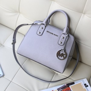 Michael Kors Shell Bags Medium Size Satchel Elephant Ash (MK086)