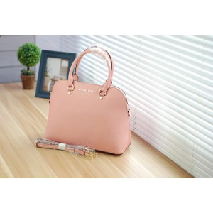 Michael Kors Shell Bags Medium Size Satchel Shrimp Pink (MK155)