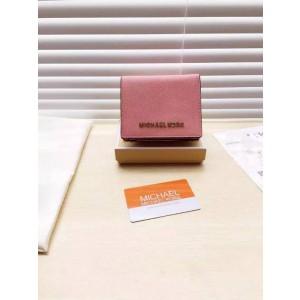 Michael Kors Short Suction Buckle Wallets Shrimp Pink (MK207)