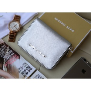 Michael Kors Short Zip Wallet Silver (MK278)