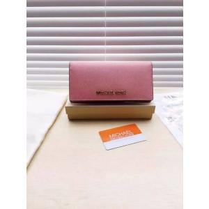 Michael Kors Long Suction Buckle Wallets Shrimp Pink (MK211)