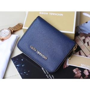 Michael Kors Short Zip Wallet Dark Blue (MK251)