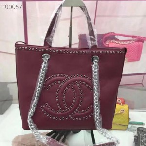 Chanel Totes CH118-Wine-Red