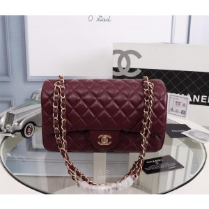 Chanel Double Flap Classic Handbag CH207-Wine-Red