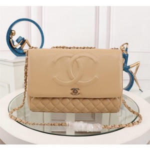 Chanel Large Sheepskin Flap Bags CH015S-Apricot