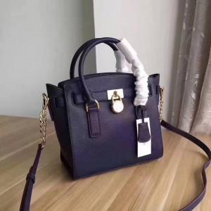 Michael Kors Lock Shoulder Bags Dark Blue (MK403)