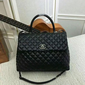 Chanel Large Top Handle Flap Bags CH138-Black