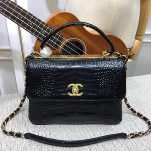 Chanel Top Handle Flap Bags CH027C-Black