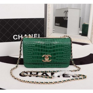 Chanel Wallet On Chain CH166-Green
