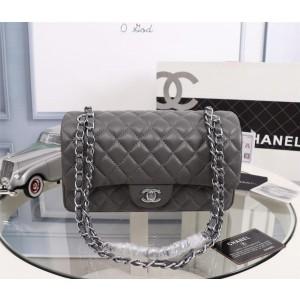 Chanel Double Flap Classic Handbag CH207-Grey
