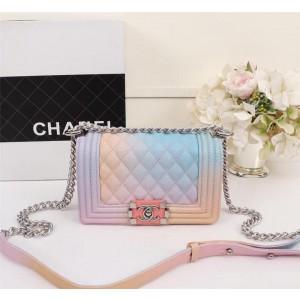 Chanel Small Rainbow BOY CHANEL Handbag CH190S-Pink-Buckle