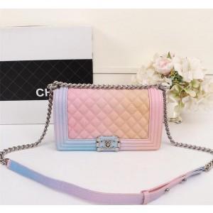 Chanel Rainbow BOY CHANEL Handbag CH190-Blue-Buckle