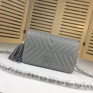 Chanel Wallet On Chain CH196-Grey