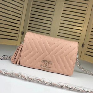Chanel Wallet On Chain CH196-Pink