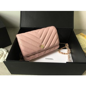 Chanel Wallet On Chain CH200-Pink