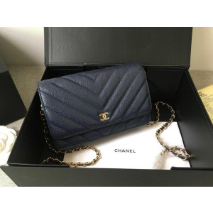 Chanel Wallet On Chain CH200-Blue