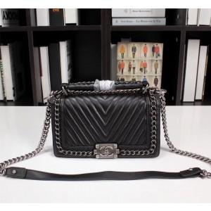 Chanel Top Handle BOY CHANEL Handbag CH206V-Black