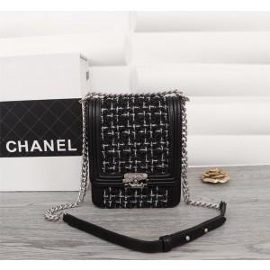 2019 Chanel Tweed BOY CHANEL Handbag CH238-Black