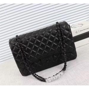 Chanel Large Double Flap Classic Handbag CH229-Black