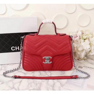 Chanel Top Handle Flap Bags CH231-Red