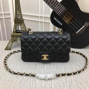 Chanel Small Classic Handbag CH030-Black