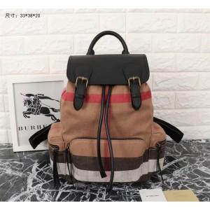 Burberry Backpack 391223 Black Brown
