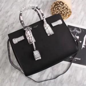 Saint Laurent Shoulder Bag 7115 Black White 32cm